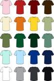 Vecteurs du tee-shirt des hommes vides Images libres de droits