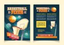 Dirigez les insectes de bande dessinée pour inviter sur le match de basket illustration libre de droits