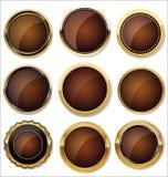 Dirigez les insignes de l'or et de l'ensemble noir de joint illustration libre de droits