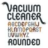 Dirigez les lettres modernes majuscules d'alphabet, ensemble d'ABC Rounde génial illustration stock