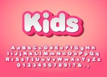 Dirigez les lettres roses mignonnes illustration libre de droits