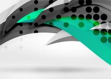 Dirigez les lignes colorées de vague dans l'espace blanc 3d et gris Photographie stock libre de droits