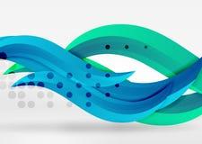 Dirigez les lignes colorées de vague dans l'espace blanc 3d et gris Photo libre de droits