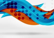 Dirigez les lignes colorées de vague dans l'espace blanc 3d et gris Images libres de droits