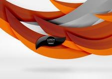 Dirigez les lignes colorées de vague dans l'espace blanc 3d et gris Image libre de droits