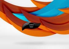 Dirigez les lignes colorées de vague dans l'espace blanc 3d et gris Images stock