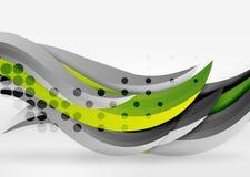 Dirigez les lignes colorées de vague dans l'espace blanc 3d et gris Photos stock