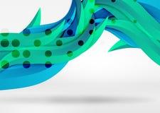 Dirigez les lignes colorées de vague dans l'espace blanc 3d et gris Photos libres de droits