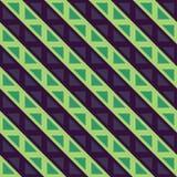 Dirigez les lignes colorées sans couture modernes modèle, abrégé sur de la géométrie vert bleu de couleur Photos stock
