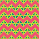 Dirigez les lignes colorées sans couture modernes modèle, rose de couleur, abrégé sur de chevron de la géométrie vert Images libres de droits