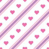 Dirigez les lignes diagonales pourpres et roses modèle illustration libre de droits