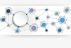 Dirigez les molécules abstraites avec le papier 3D sur le fond gris-clair Images stock