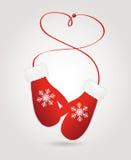 Dirigez les paires d'illustration de mitaines de Noël d'ed de r illustration stock