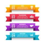 Dirigez les rayures des flèches 3d infographic, diagramme de ruban, graphe linéaire, présentation d'escaliers, diagramme Concept  Image stock