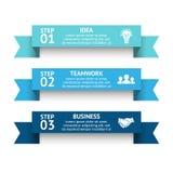 Dirigez les rayures des flèches 3d infographic, diagramme de ruban, graphe linéaire, présentation d'escaliers, diagramme Concept  Images stock