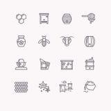 Dirigez les symboles des produits de miel d'abeille et d'abeille illustration libre de droits