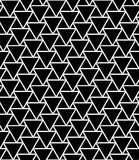 Dirigez les triangles sans couture modernes de modèle de la géométrie, résumé noir et blanc Photographie stock