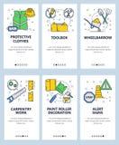 Dirigez Web de schéma et ensemble mobile de calibre d'APP illustration libre de droits