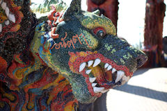 3 dirigió a Dragon Canine Colorful Thai Imagen de archivo