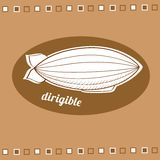 Dirigible balloon Stock Photos