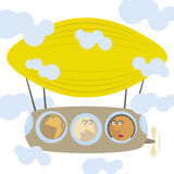 Dirigible cartoon picture Stock Photo