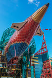 Dirigible en Disneyland Foto de archivo