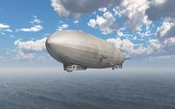 Dirigible sobre el mar ilustración del vector