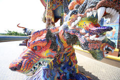 3 dirigiu Dragon Canine Colorful Thai Fotos de Stock Royalty Free