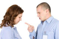Dirija culpar a un empleado Foto de archivo libre de regalías
