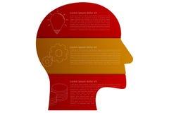 Dirija el infographics formado del negocio con 3 pasos en estilo de la papiroflexia libre illustration