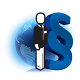 Diritti del maschio di affari Immagine Stock Libera da Diritti