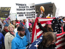 Diritti del ` s delle donne al ` s marzo delle donne Fotografia Stock Libera da Diritti