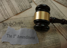 Diritti di costituzione del primo emendamento Fotografia Stock Libera da Diritti