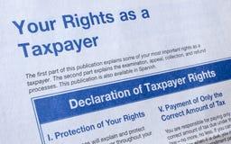 Diritti di imposta Immagini Stock Libere da Diritti
