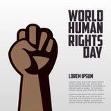 Diritti umani giorno, manifesto, citazioni, modello Immagine Stock