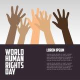 Diritti umani giorno, manifesto, citazioni, modello Fotografia Stock