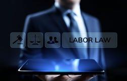 Diritto del lavoro, avvocato, avvocato, concetto di affari di consiglio legale sullo schermo fotografia stock