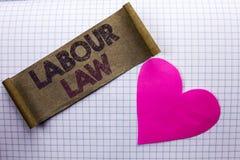 Diritto del lavoro del testo della scrittura L'occupazione di significato di concetto governa l'unione della legislazione di obbl immagini stock libere da diritti