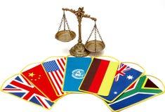 Diritto internazionale e giustizia Immagine Stock Libera da Diritti