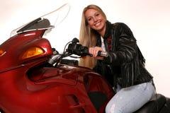Diritto teenager del motociclo Fotografia Stock