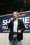 Dirk Benedict at the Sheffield Film and Comic Con 2014. American actor Dirk Benedict from the TV programme A team doing a Q and A session at the Sheffield Film Royalty Free Stock Photography