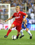 Dirk Kuyt. Dutch player of Liverpool FC, in action during a friendly match against RCD Espanyol at the Estadi Cornella-El Prat on August 2, 2009 in Barcelona Stock Photos