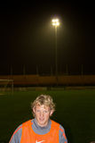 Dirk Kuyt. A Dutch footballer who plays for English club Liverpool. He started his career as a striker, but he has been converted into a winger and plays the Stock Photography