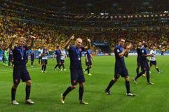 Dirk Kuyt , Arjen Robben and Stefan de Vrij Coupe du Monde 2014 Stock Images