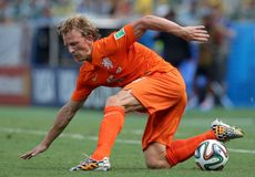 Dirk Kuyt Coupe du monde 2014 Royalty Free Stock Images