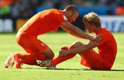 Dirk Kuyt and Ron Vlaar Coupe du monde 2014 Stock Photo