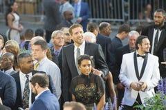 Dirk Nowitzki dans l'enchâssement de Panthéon, mA, Etats-Unis photos libres de droits