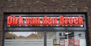 Dirk van den Broek supermarkt in Nederland royalty-vrije stock afbeeldingen