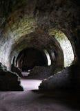 Dirleton slott - källare Fotografering för Bildbyråer