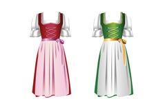 dirndl ζευγάρι φορεμάτων Στοκ εικόνα με δικαίωμα ελεύθερης χρήσης